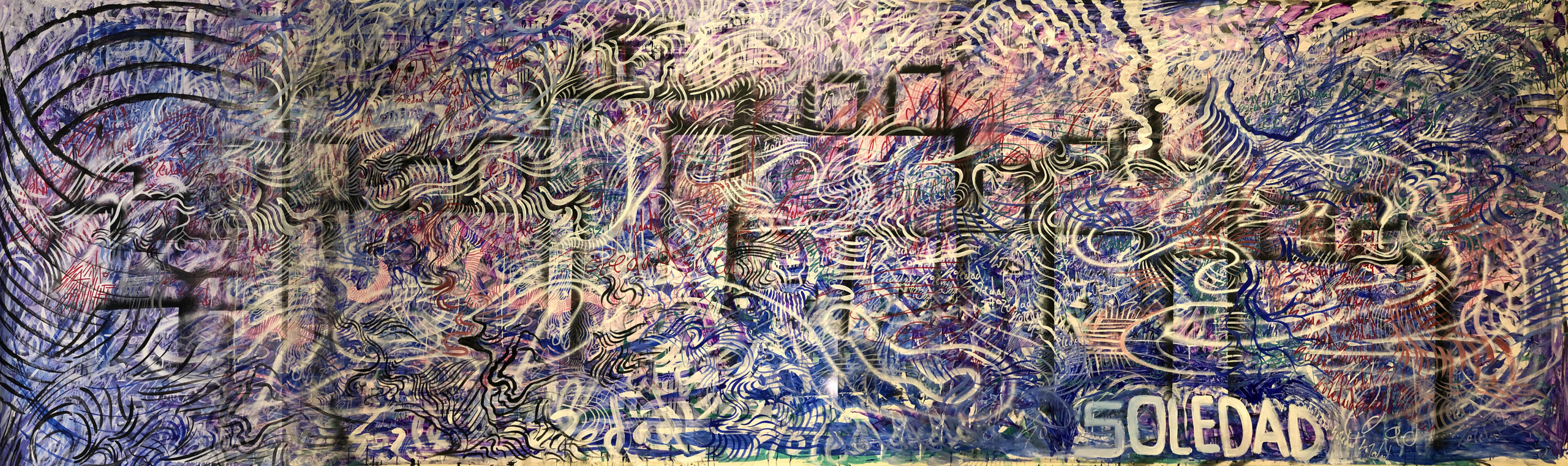 "Soledad - mixed media - 212"" x 63"""