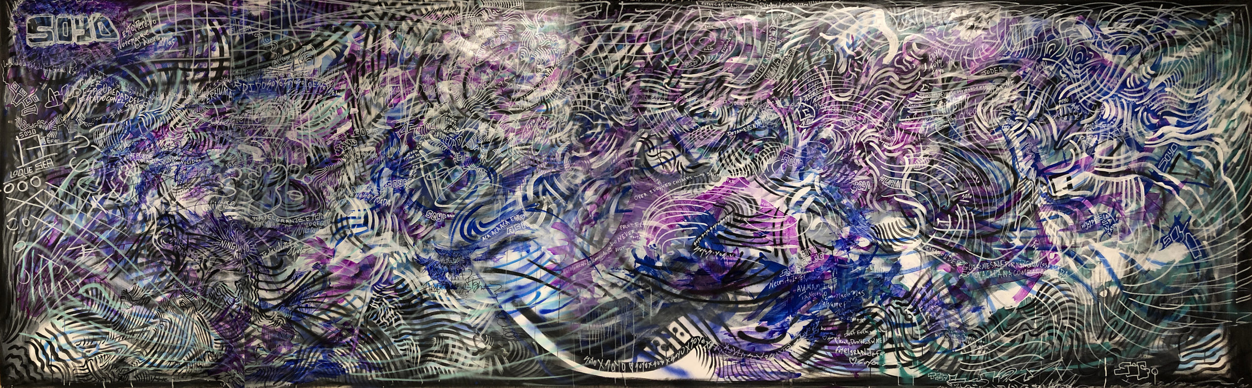 "Soyo Lo Que Sea - mixed media 212"" x 63"" - 2019 - $15,000"